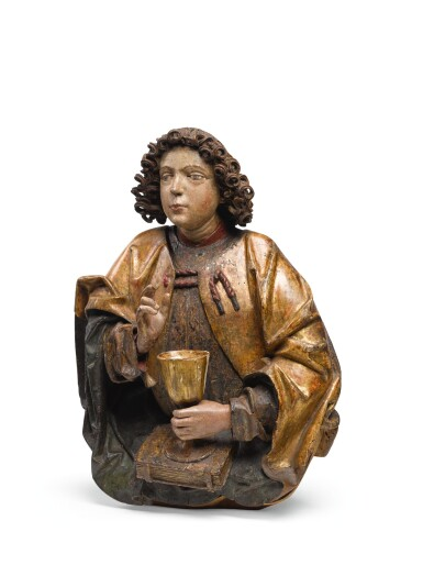 SOUTHERN GERMAN, PROBABLY NUREMBERG, CIRCA 1500 | HALF FIGURE OF SAINT JOHN THE EVANGELIST