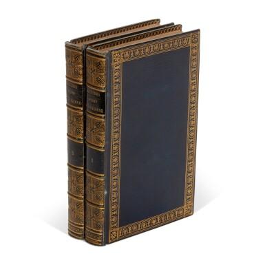 View 1. Thumbnail of Lot 131. Grafigny, Lettres d'une Péruvienne, Paris, 1797, 2 volumes, blue morocco gilt by Simier, Béraldi copy.