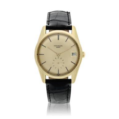 View 1. Thumbnail of Lot 251. Reference 3558  A yellow gold automatic wristwatch with date, Made in 1968.