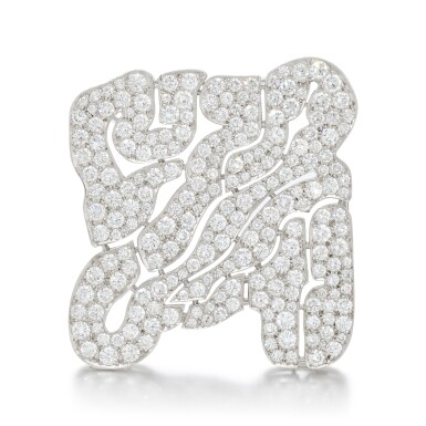 View 1. Thumbnail of Lot 125. Diamond brooch (Spilla in diamanti).