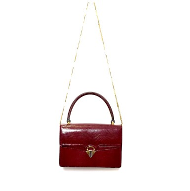 View 6. Thumbnail of Lot 725. GUCCI   BURGUNDY VINTAGE BAG IN LIZARD, c.1960s.