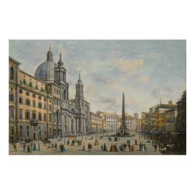 GIUSEPPE BISON | ROME, A VIEW OF THE PIAZZA NAVONA