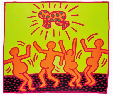 View 1. Thumbnail of Lot 135. KEITH HARING | UNTITLED 1 (LITTMANN P. 31) .