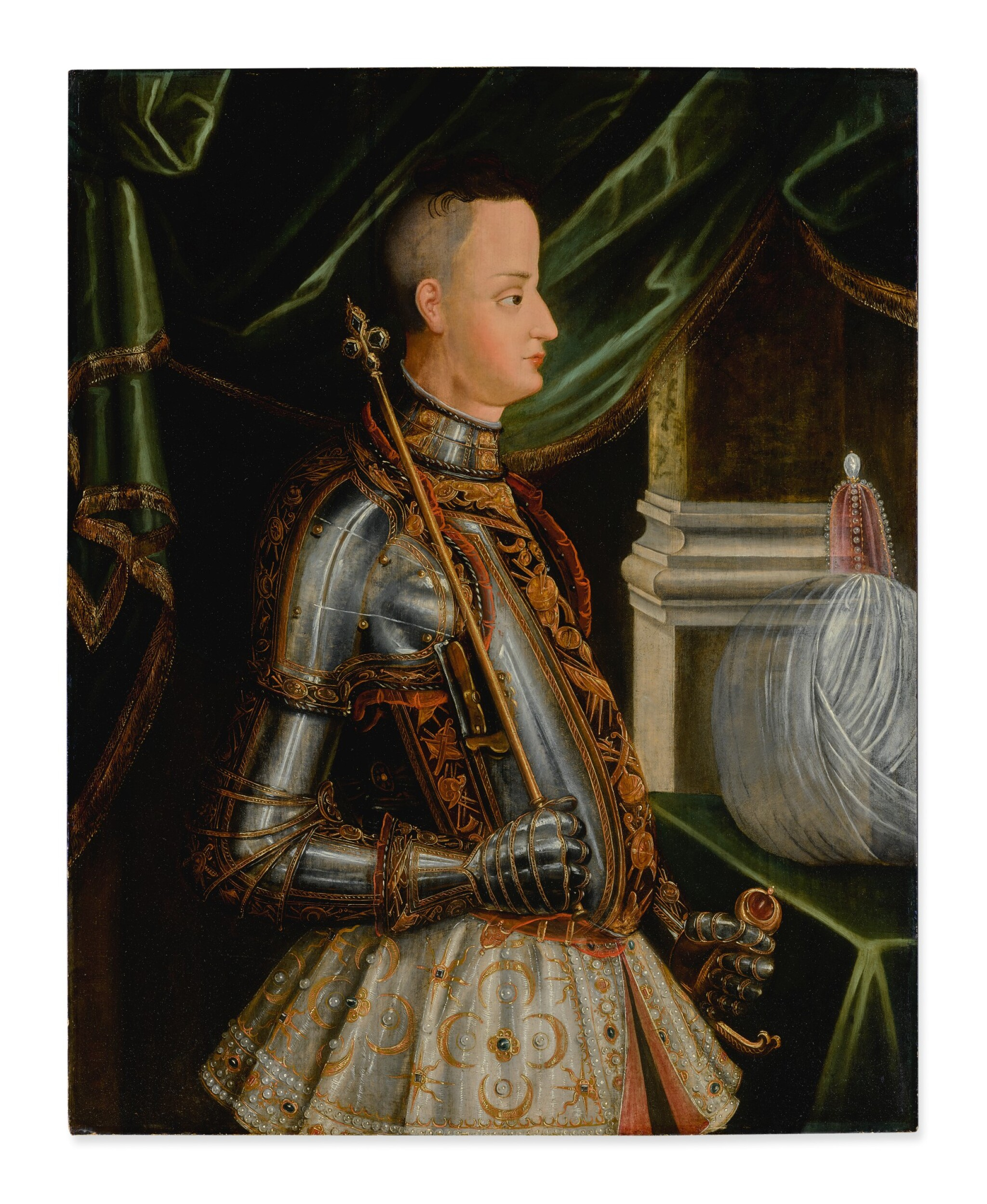 View full screen - View 1 of Lot 61. Sold Without Reserve   SOUTH GERMAN SCHOOL, CIRCA 1600   PORTRAIT OF AN AMBASSADOR.