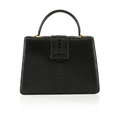 View 2. Thumbnail of Lot 51. Black 001 Top Handle in Semi Shiny Python with Metal Hardware, exclusively personalised with Mr Ford's signature, 2020.