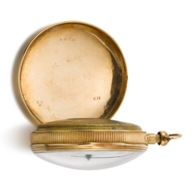 View 6. Thumbnail of Lot 279. SWISS   A GOLD QUARTER REPEATING WATCH WITH CONCEALED EROTIC AUTOMATON, CIRCA 1820.