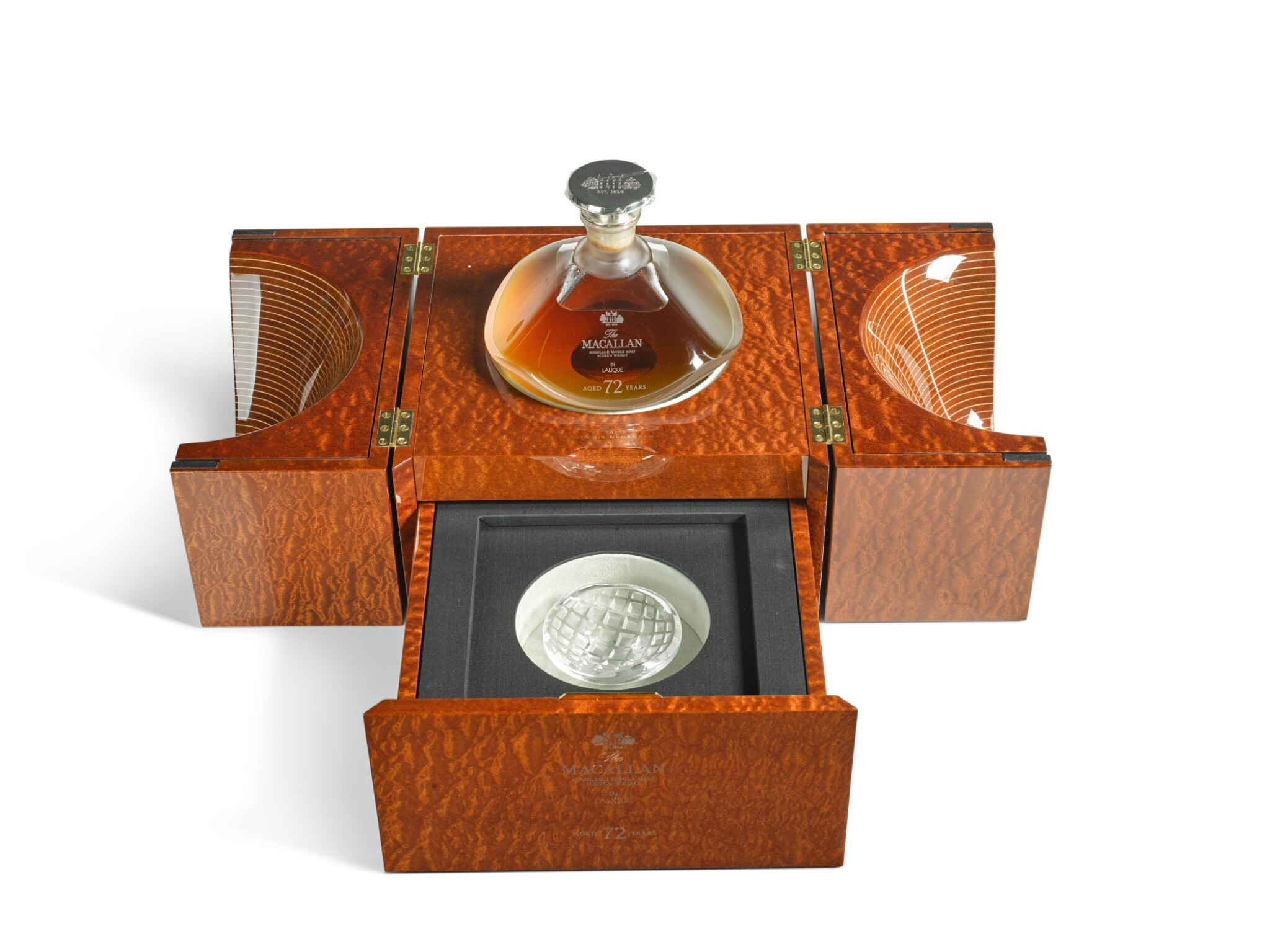View 1 of Lot 35. The Macallan Lalique Genesis Decanter 72 Year Old 42.0 abv NV (1 BT75cl).