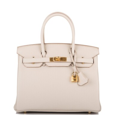 View 1. Thumbnail of Lot 5. Hermès Beton Birkin 30cm of Togo Leather with Gold Hardware.