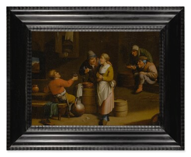 View 2. Thumbnail of Lot 530. 19TH CENTURY FOLLOWER OF DAVID TENIERS THE YOUNGER | A TAVERN INTERIOR WITH FIGURES.