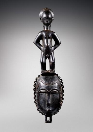 View 1. Thumbnail of Lot 31. Masque, Yauré, Côte d'Ivoire   Yaure mask, Côte d'Ivoire.