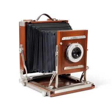 View 1. Thumbnail of Lot 9. Large format Studio Camera of Paolo Roversi, L.F. Deardroff & Sons Wood Field.