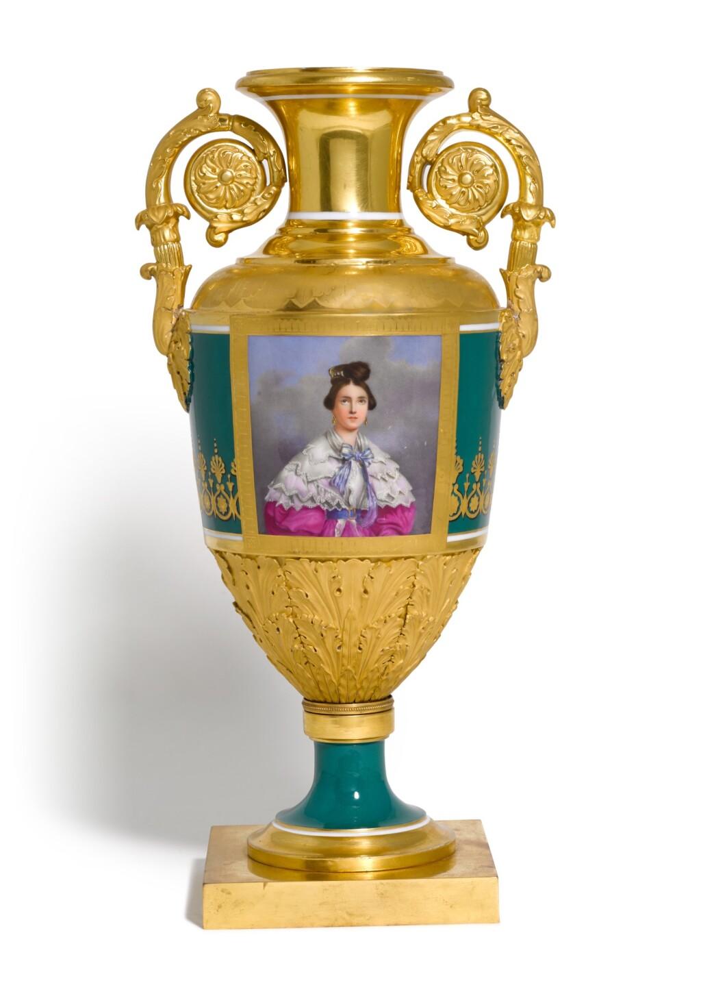 A RARE IMPERIAL PORCELAIN VASE, IMPERIAL PORCELAIN MANUFACTORY, ST PETERSBURG, PERIOD OF NICHOLAS I (1825-1855)
