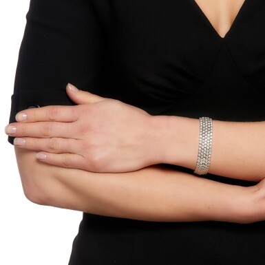 View 4. Thumbnail of Lot 20. Diamond bracelet.