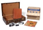THE BEATLES | Ronson cigarette lighter; Petri Half 7 Camera & Solid State DC3 Flash; leather writing case & small case