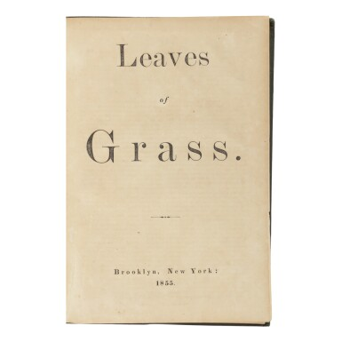 View 3. Thumbnail of Lot 252. WHITMAN, WALT | Leaves of Grass. Brooklyn: [For the author by Andrew and James Rome], 1855.