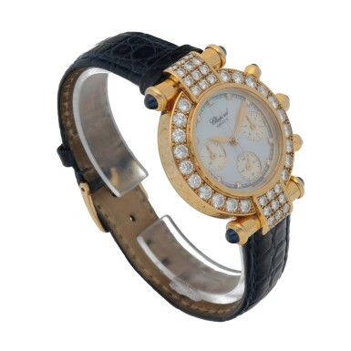 View 3. Thumbnail of Lot 176. IMPERIALE, REF 4043 YELLOW GOLD AND DIAMOND-SET CHRONOGRAPH WRISTWATCH WITH MOTHER-OF-PEARL DIAL CIRCA 1996.