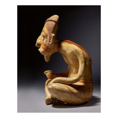 NAYARIT AGED MALE FIGURE, LAGUNILLAS TYPE E PROTOCLASSIC, CIRCA 100 BC-AD 250