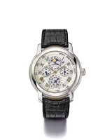 AUDEMARS PIGUET | JULES AUDEMARS EQUATION DU TEMPS JERUSALEM, A WHITE GOLD AUTOMATIC PERPETUAL CALENDAR WRISTWATCH WITH MOON PHASES AND EQUATION OF TIME CIRCA 2012