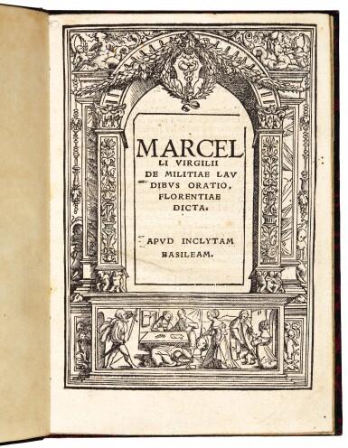 Adriani, De militiae laudibus oratio, Basel, 1518, later boards
