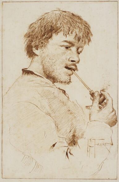 GIACOMO FAVRETTO | Portrait of a man smoking a pipe
