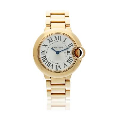 View 1. Thumbnail of Lot 20. Reference 3007 Ballon Bleu A pink gold wristwatch with bracelet, Circa 2015 .