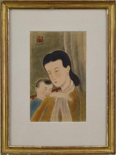 View 2. Thumbnail of Lot 231. LE PHO 黎譜 | LA MERE ET L'ENFANT (MOTHER AND CHILD) 母子.