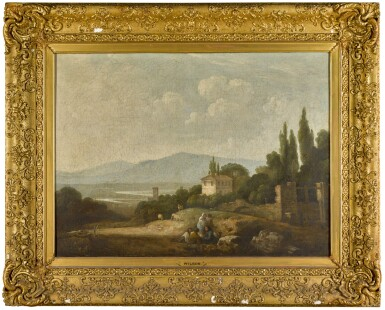 View 2. Thumbnail of Lot 199. A view over Villa Madama, Rome, and surrounding countryside.