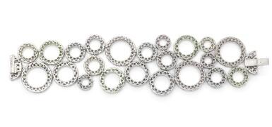 View 5. Thumbnail of Lot 11. Gem set and diamond bracelet, 'Bubbles', Michele della Valle.