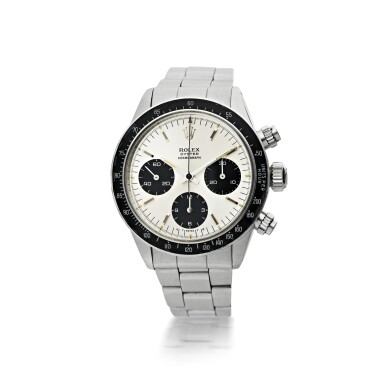 View 1. Thumbnail of Lot 3. ROLEX | REFERENCE 6263 DAYTONA 'SIGMA DIAL'   A STAINLESS STEEL CHRONOGRAPH WRISTWATCH WITH BRACELET, CIRCA 1974.