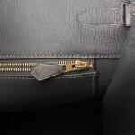 Hermès Graphite Birkin 35cm of Ostrich with Gold Hardware