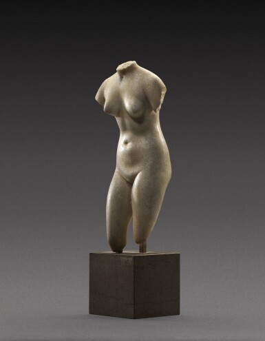 View 3. Thumbnail of Lot 39. A Hellenistic Marble Torso of the Capitoline Aphrodite, circa 2nd/1st Century B.C..