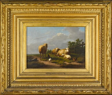 View 2. Thumbnail of Lot 145. Sheep and Chicken in a Landscape.