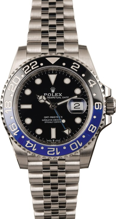 View 2. Thumbnail of Lot 6. ROLEX | GMT Master II, Ref. 126710BLNR, A Stainless Steel Wristwatch with Bracelet, Circa 2019.