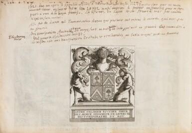 View 4. Thumbnail of Lot 199. SPILBERGEN. Speculum orientalis occidentalisque Indiae navigationum. Leyde, 1619. In-8 oblong. Vélin de l'ep..