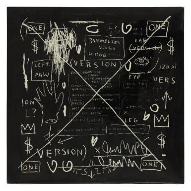 "View 2. Thumbnail of Lot 12. [Jean-Michel Basquiat] Rammellzee vs K-Rob | SEALED ""Beat Bop"" 12 inch single, 1983.."