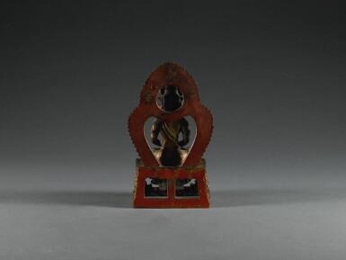 View 2. Thumbnail of Lot 25. A GILT-BRONZE FIGURE OF AMITAYUS,  QING DYNASTY, QIANLONG PERIOD | 清乾隆 鎏金銅無量壽佛坐像.