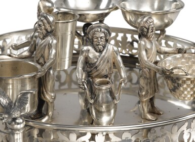 View 3. Thumbnail of Lot 143. A SILVER SEDER COMPENDIUM, PROBABLY GERMAN OR AUSTRIAN, LATE 19TH CENTURY.