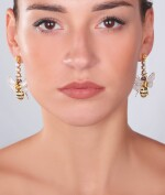 PAIR OF GEM SET AND DIAMOND EARRINGS, MICHELE DELLA VALLE