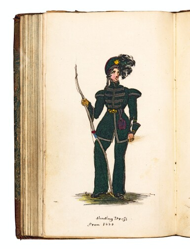 Archery, volume containing various printed and manuscript items, early 19th century