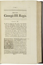 An extensive and important collection of over 1,900 Acts of British Parliament, 1714–1789