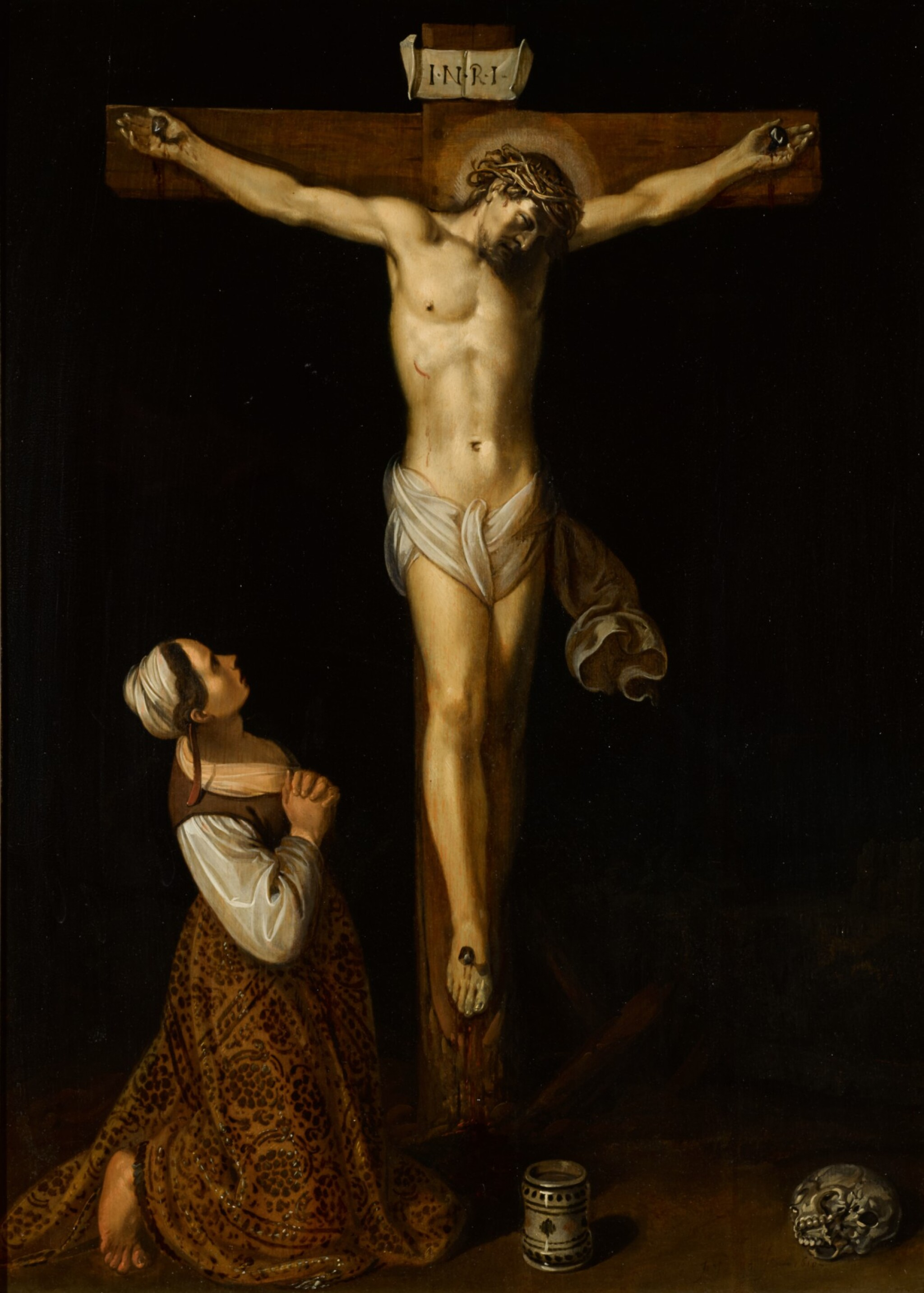 View full screen - View 1 of Lot 17. JAN SYMONSZ. PYNAS | Mary Magdalene kneeling at the foot of the cross.
