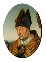 FLEMISH SCHOOL, CIRCA 1540 | A portrait of a bishop saint