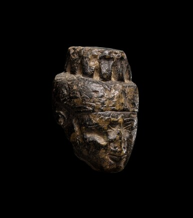 View 2. Thumbnail of Lot 48. A Fragmentary Egyptian Granite Head of Isis, Late Period, 716-30 B.C..