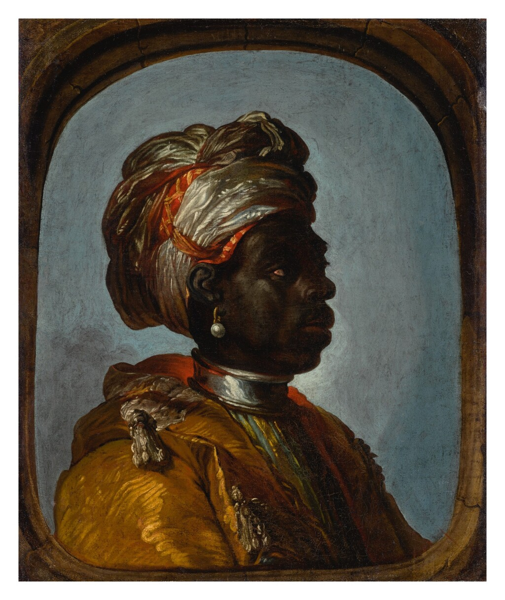 FRENCH SCHOOL, CIRCA 1700   PORTRAIT OF A PAGE IN PROFILE, WEARING A TURBAN