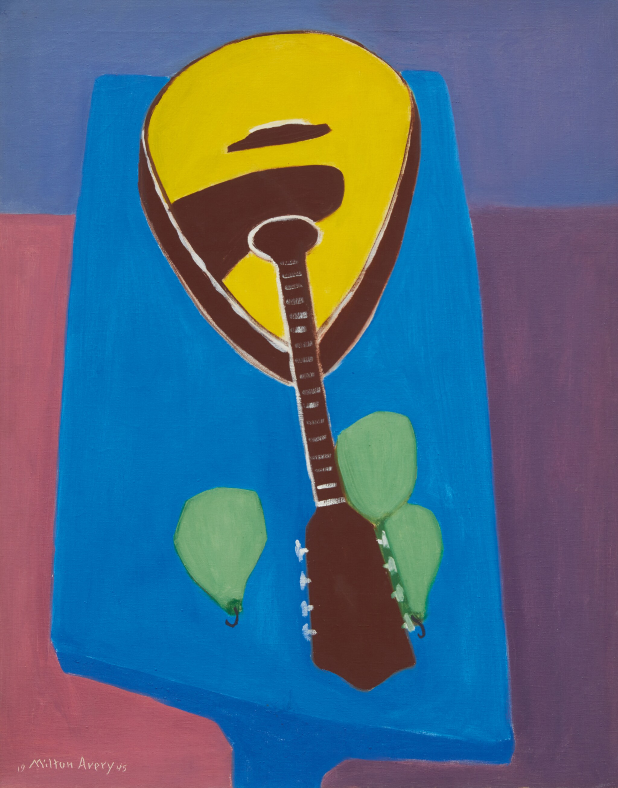 View full screen - View 1 of Lot 14. MILTON AVERY   MANDOLIN WITH PEARS.