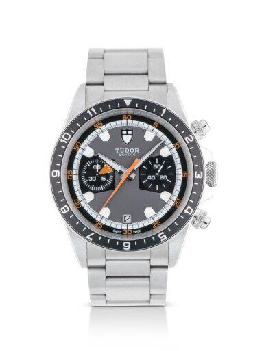 TUDOR | HERITAGE, REF 70330N STAINLESS STEEL CHRONOGRAPH WRISTWATCH WITH DATE AND BRACELET CIRCA 2011