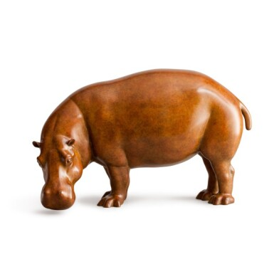View 1. Thumbnail of Lot 24. Jonathan Knight,  b. 1954   Hippopotamus.