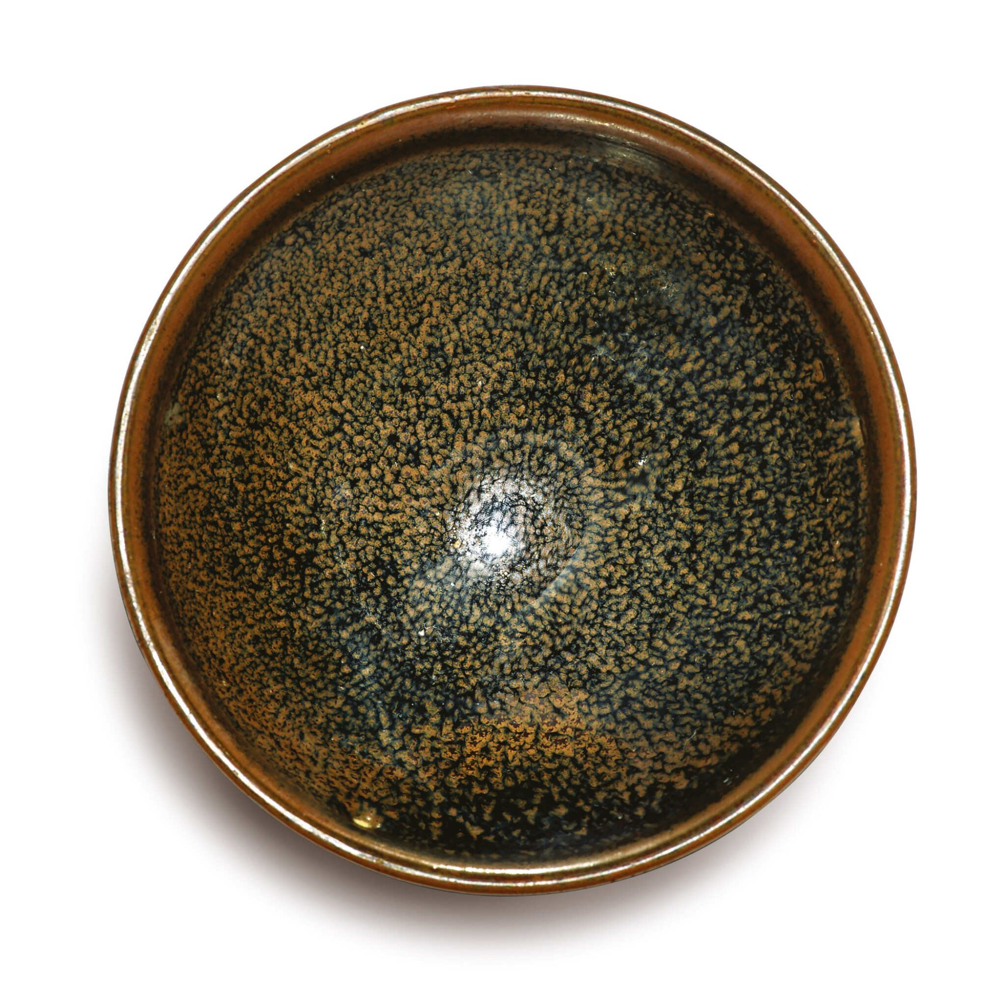 View 1 of Lot 712. AN EXQUISITE SMALL BLACK-GLAZED RUSSET-SPLASHED BOWL, NORTHERN SONG / JIN DYNASTY.