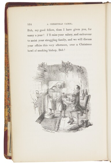 View 3. Thumbnail of Lot 109. Dickens, A Christmas Carol, 1846, eleventh edition, first Bradbury and Evans edition, author's copy with bookplate.