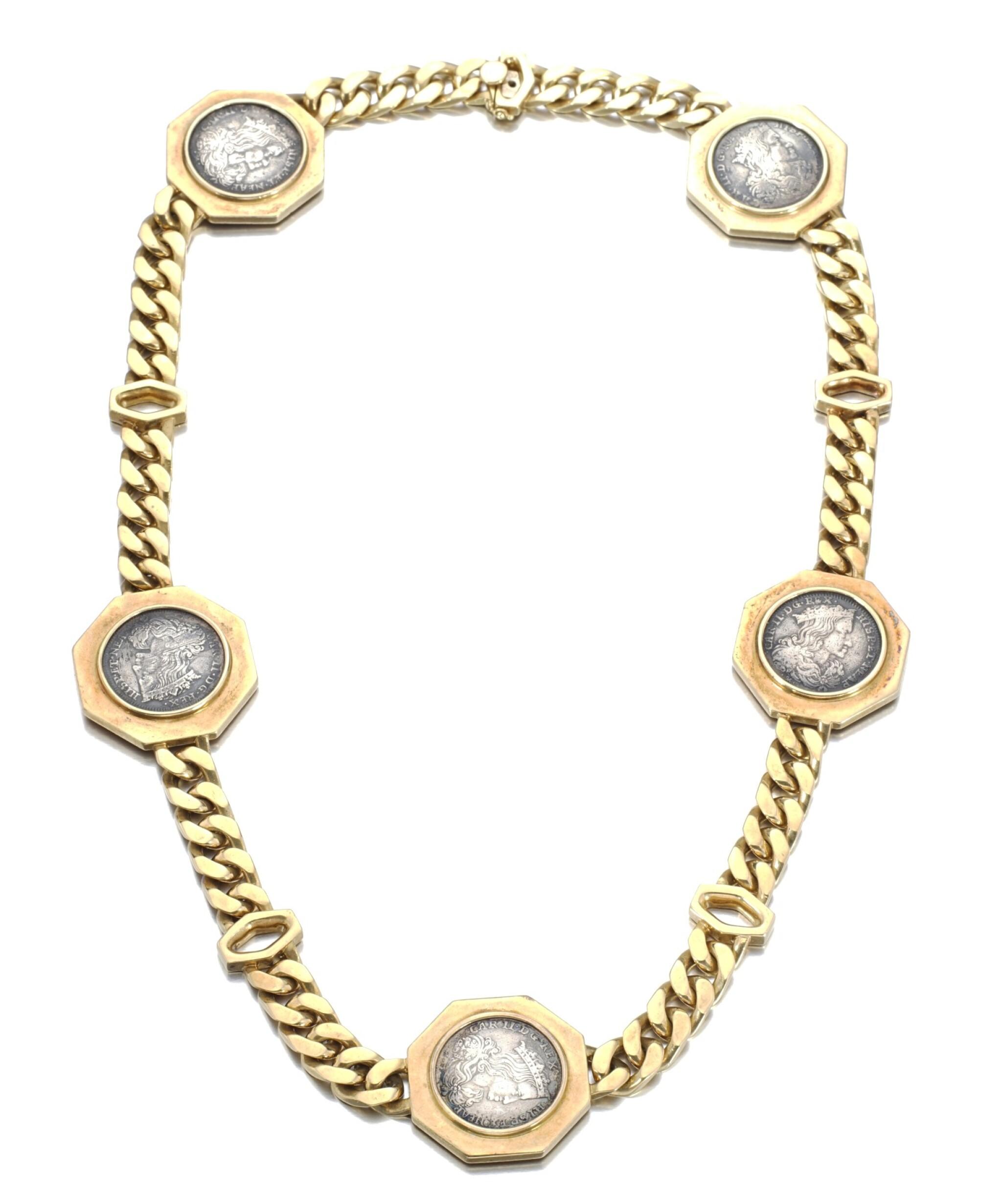 View full screen - View 1 of Lot 696. Bulgari | Gold sautoir, 'Monete', 1970s | 寶格麗 | 黃金「Monete」長項鏈.